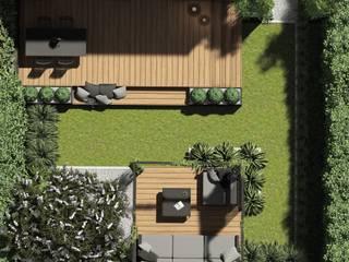 STTYK - Pracownia Architektury Wnętrz i Krajobrazu Jardines de estilo moderno