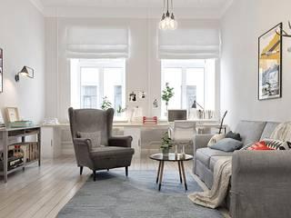 Skandinavischer Stil rius-interior WohnzimmerSofas und Sessel