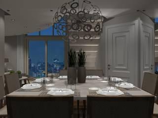 Sala Luxo 2: Coberturas de apartamento  por Designer Paula Daiane dos Santhos