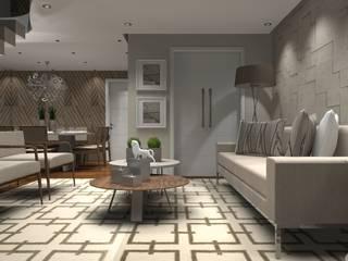 Sala Luxo 1: Coberturas de apartamento  por Designer Paula Daiane dos Santhos