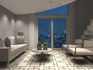Sala Luxo 3: Coberturas de apartamento  por Designer Paula Daiane dos Santhos