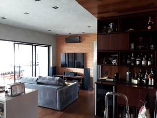 Projeto Apartamento Moderno na Vila Mascote.: Salas de estar  por Reformas Inteligentes!