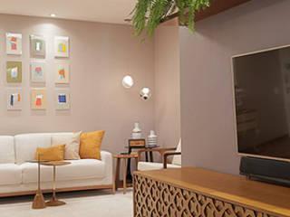 Salon moderne par Paula Müller Arquitetura e Design de Interiores Moderne