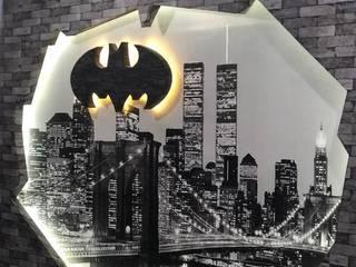 Proyecto Batber shop: Salas multimedia de estilo  por Creative Home by Irwin Casas & Sandra Garcia,