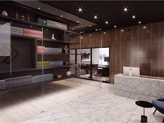 OFICINA DECIMA Eclectic style offices & stores by CUARTO BLANCO Eclectic