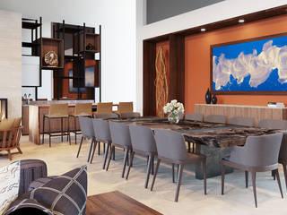 CASA RIO DANUBIO Eclectic style dining room by CUARTO BLANCO Eclectic