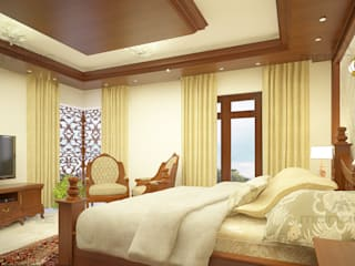 Classic Bedroom Interior Classic style bedroom by Monnaie Architects & Interiors Classic