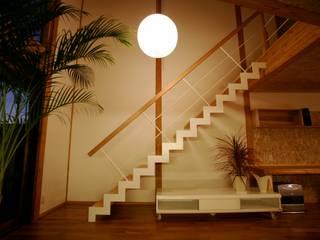 リビング階段: 株式会社高野設計工房が手掛けた階段です。