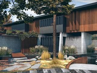 Casa Primavera: Casas de estilo  por HDA: ARQUITECTURA BIOCLIMATICA