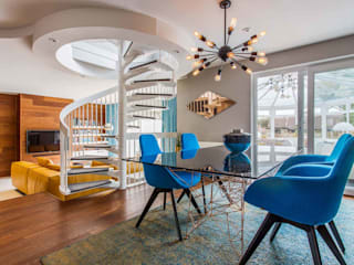 Mid Century Eclectic Eclectic style dining room by Pfeiffer Design Ltd Eclectic