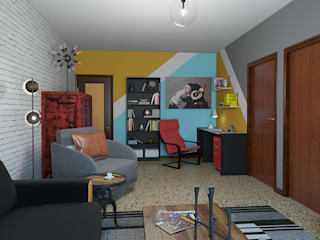 Pop Art Studio Eclectic style study/office by homify Eclectic