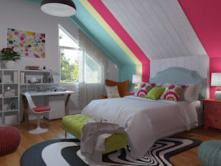 Eclectic -Pop Art decoration Eclectic style bedroom by homify Eclectic
