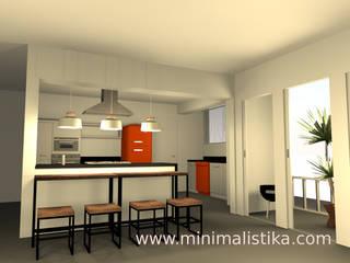 Minimalistika.com Cuisine industrielle Panneau d'aggloméré Gris
