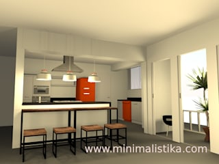 Minimalistika.com Industrial style kitchen Chipboard Grey