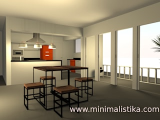 Minimalistika.com Industrial style dining room Solid Wood Wood effect