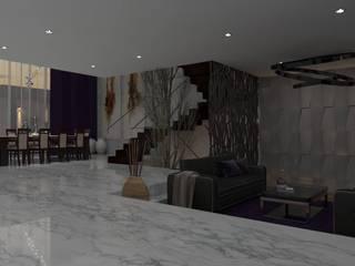 Casa GC 1920 Salones modernos de HC Arquitecto Moderno