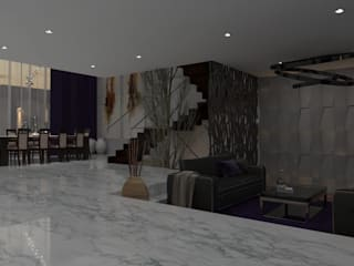 Casa GC 1920: Salas de estilo  por HC Arquitecto