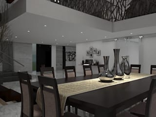 Casa GC 1920: Comedores de estilo  por HC Arquitecto