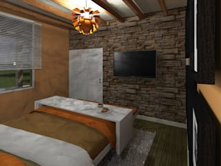 Casa de Campo: Recámaras de estilo  por HC Arquitecto