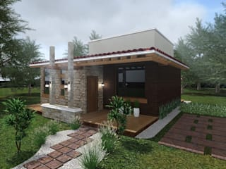 Casa de Campo: Casas de estilo  por HC Arquitecto