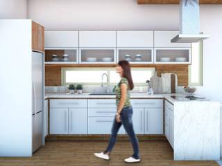 COCINA INTERIOR 1: Muebles de cocinas de estilo  por AP Arquitectura