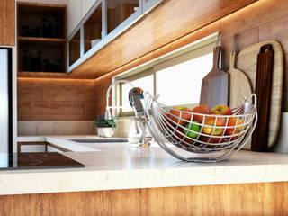 DETALLE: Muebles de cocinas de estilo  por AP Arquitectura