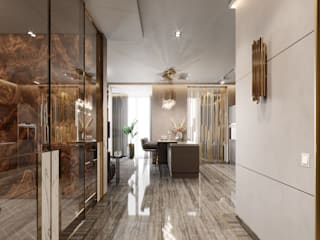 Corridor & hallway by EJ Studio, Eclectic