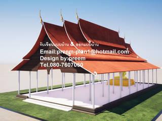 งานออกแบบวัด รับเขียนแบบบ้าน และ ออกแบบบ้าน Tel .0807607060:  บ้านไม้ by รับเขียนแบบบ้าน&ออกแบบบ้าน