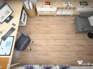 BIURO NA PODDASZU: styl , w kategorii Domowe biuro i gabinet zaprojektowany przez Wzornik projektowy