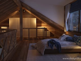 Rustic style bedroom by студия Design3F Rustic