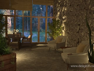 Eclectic style conservatory by студия Design3F Eclectic