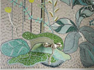 Mosaique murale Salle de bain tropicale par Lechevallier stephanie Tropical