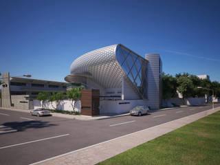 SHADDAI MOSCOSOARCHITECTS Estudios y despachos modernos Concreto Gris