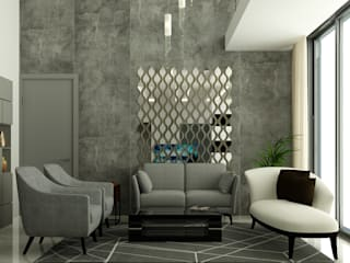 TRINITY TOWERS Modern living room by Spaces Alive Modern