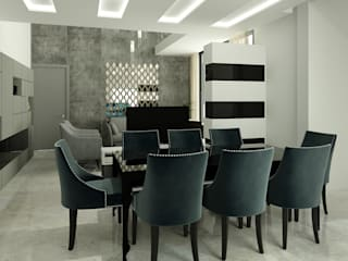 TRINITY TOWERS Modern dining room by Spaces Alive Modern