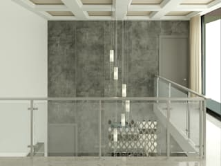 TRINITY TOWERS Modern corridor, hallway & stairs by Spaces Alive Modern
