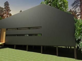 casa Quimera: Casas de madera de estilo  por ARCHIMINIMAL ESTUDIO, Rural
