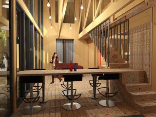 casa Quimera: Escaleras de estilo  por ARCHIMINIMAL ESTUDIO, Rural