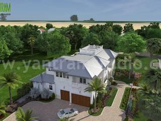 Beach Side house design with decorating ideas by Yantram 3d animation studio Virginia, USA Yantram Architectural Design Studio Modern