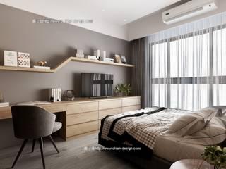 Camera da letto moderna di 鼎士達室內裝修企劃 Moderno
