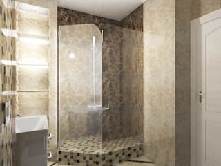 Санузел в Санкт-Петеребурге: Ванные комнаты в . Автор – ООО 'GLOBAL INTERIOR', Модерн