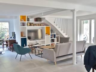 Rénovation Maison Salon moderne par Sarah Archi In' Moderne