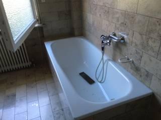 alte Badewanne: rustikale Badezimmer von Das  Werkhaus Langerwisch