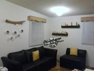 Decoración con Repisas y Veladoras: Salas de estilo minimalista por Chimichanga Sustentabilidad Creativa