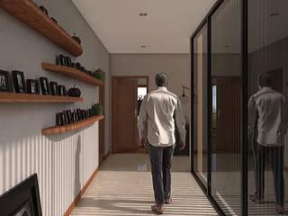 Casa Edén Los Sabinos: Pasillos y recibidores de estilo  por Grupo PAAR Arquitectos