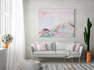 Salon w stylu eklektycznym: styl , w kategorii  zaprojektowany przez MYLOVIEW