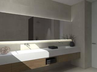 Una villa minimal ed elegante a Udine Bagno minimalista di interiorbe SRL Minimalista
