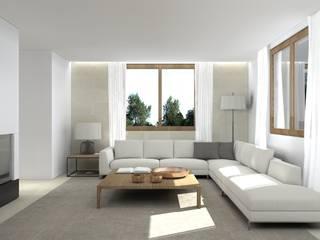 Una villa minimal ed elegante a Udine Soggiorno minimalista di interiorbe SRL Minimalista