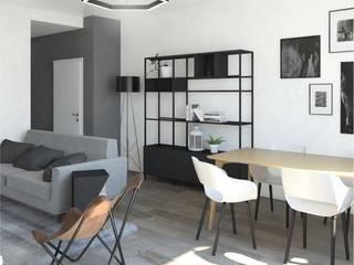 Un soggiorno in stile scandinavo Sala da pranzo in stile scandinavo di interiorbe SRL Scandinavo