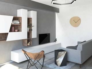 Un soggiorno in stile scandinavo Soggiorno in stile scandinavo di interiorbe SRL Scandinavo